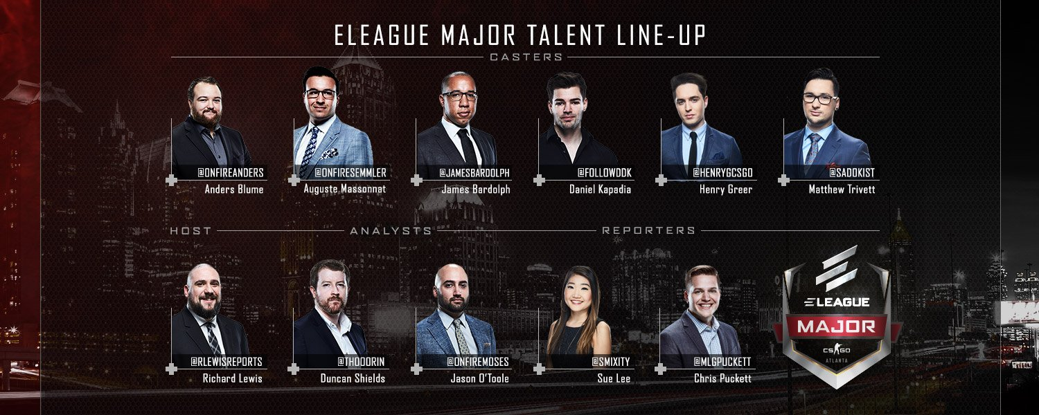 ELEAGUE Major Talent Line-Up